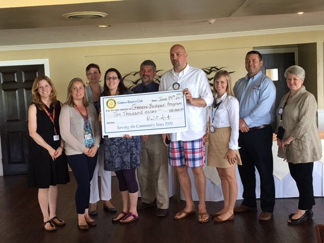 Geneva Rotary Club donates $10,000 to the Geneva Backpack Program